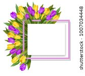 8 march greeting card for...   Shutterstock .eps vector #1007034448