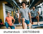 picture of cheerful fitness... | Shutterstock . vector #1007038648