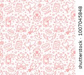 valentines day seamless pattern.... | Shutterstock .eps vector #1007045848