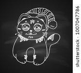 chalk drawing illustration for... | Shutterstock .eps vector #1007047786