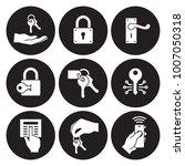 keys and locks icons set | Shutterstock .eps vector #1007050318