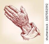 praying hands   symbol of... | Shutterstock .eps vector #1007052592