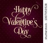 happy valentine's day vector... | Shutterstock .eps vector #1007053528