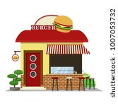 burger shop.food shop icon in... | Shutterstock .eps vector #1007053732