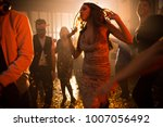 crowd of trendy young people... | Shutterstock . vector #1007056492