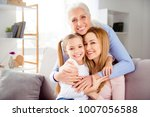 close up portrait of excited... | Shutterstock . vector #1007056588
