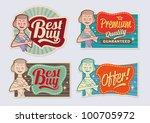 retro vintage advertising... | Shutterstock .eps vector #100705972