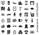 finance icons set. simple style ... | Shutterstock .eps vector #1007061046