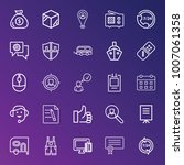business outline vector icon... | Shutterstock .eps vector #1007061358