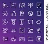 business outline vector icon... | Shutterstock .eps vector #1007061568