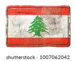 3d rendering of a lebanon flag... | Shutterstock . vector #1007062042
