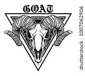 vector goat. vector eps 10   | Shutterstock .eps vector #1007062906