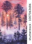 watercolor painting.  hand...   Shutterstock . vector #1007063686