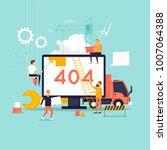 error 404 page. builders ... | Shutterstock .eps vector #1007064388