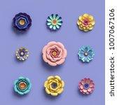 3d rendering  abstract... | Shutterstock . vector #1007067106