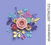 3d rendering  abstract round...   Shutterstock . vector #1007067112