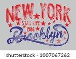 new york brooklyn graphic...   Shutterstock .eps vector #1007067262