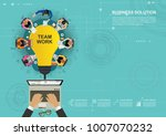 business concept for business... | Shutterstock .eps vector #1007070232