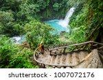 majestic waterfall in the... | Shutterstock . vector #1007072176