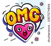 omg in comic speech bubble with ...   Shutterstock .eps vector #1007074846