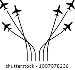 airplane flying formation  air...   Shutterstock .eps vector #1007078236