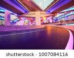 the purple blue led landscape... | Shutterstock . vector #1007084116