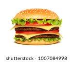 realistic hamburger classic...   Shutterstock .eps vector #1007084998
