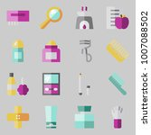 icons set about beauty. with... | Shutterstock .eps vector #1007088502