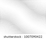 abstract halftone wave dotted... | Shutterstock .eps vector #1007090422
