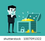 cheerful businessman stands... | Shutterstock .eps vector #1007091322