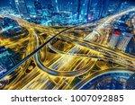 Aerial View Of Big Highway...