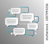 white speech bubble circles on... | Shutterstock .eps vector #1007093236