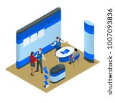 advertising exhibition stands...   Shutterstock .eps vector #1007093836