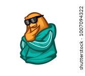 funny animal bird cartoon... | Shutterstock .eps vector #1007094322