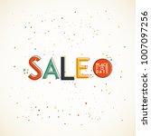 sale. typography desigm. vector ... | Shutterstock .eps vector #1007097256
