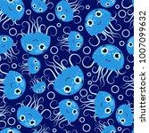 seamless pattern from blue... | Shutterstock .eps vector #1007099632