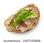 toasted sandwich with meat pate ... | Shutterstock . vector #1007103808