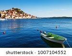 coastline of sibenik and moored ...   Shutterstock . vector #1007104552