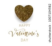 valentine's day vector card | Shutterstock .eps vector #1007104582