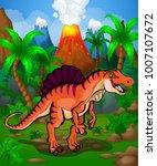 cute cartoon spinosaurus.... | Shutterstock .eps vector #1007107672