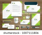 green corporate identity... | Shutterstock .eps vector #1007111806