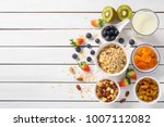 ingredients tasty healthy... | Shutterstock . vector #1007112082