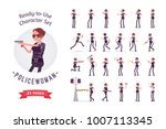 young policewoman  female...   Shutterstock .eps vector #1007113345