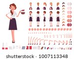 young secretary character... | Shutterstock .eps vector #1007113348