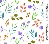 watercolor simple spring and... | Shutterstock . vector #1007118562