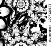 seamless floral background.... | Shutterstock .eps vector #1007120875