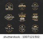 vintage surfing graphics and... | Shutterstock .eps vector #1007121502