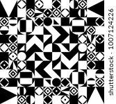geometric black and white... | Shutterstock .eps vector #1007124226