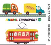 set of isolated transports with ... | Shutterstock .eps vector #1007127505