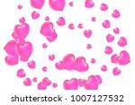 hearts confetti  bright... | Shutterstock .eps vector #1007127532
